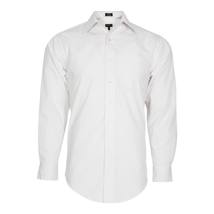 Men's Solid Broadcloth Long Sleeve Shirt