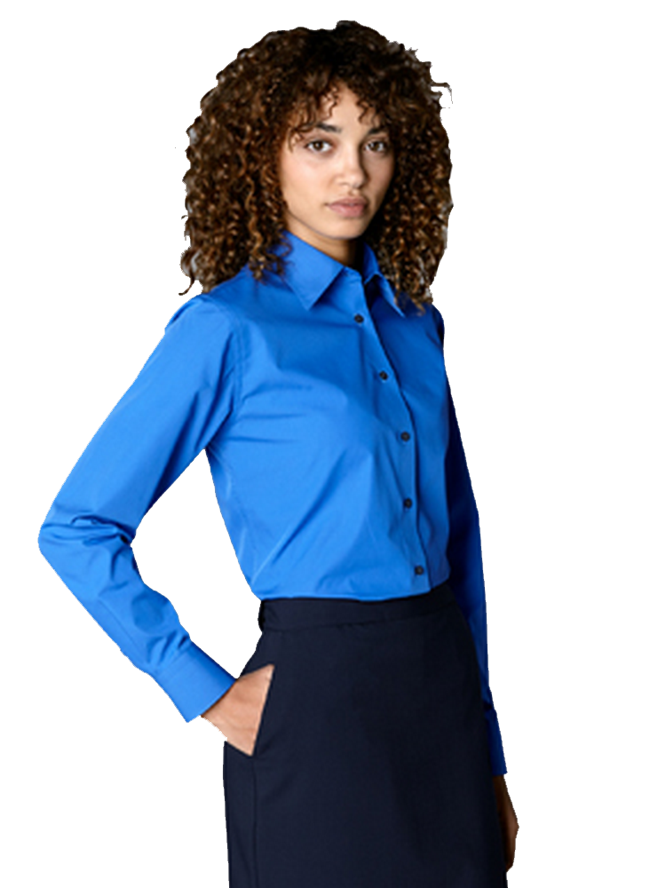 Women's Solid Broadcloth Blouse